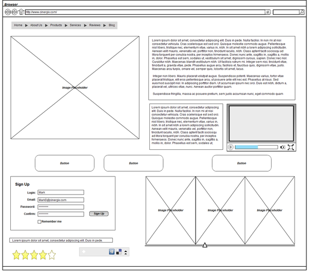 How to create an interactive wireframe in Cacoo   Cacoo