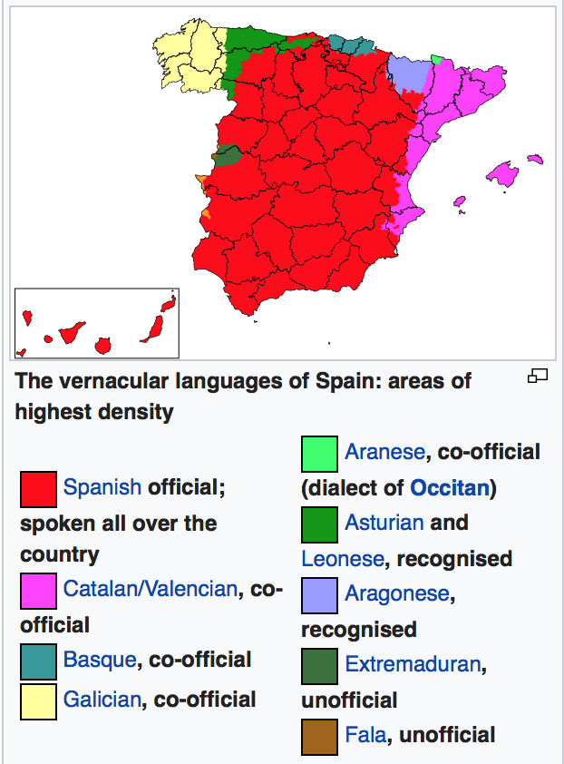 Languages In Spain Map.Which Spanish Accents Are The Most Common In Spain Quora