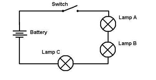 what is a circle with a x in a circuit diagram