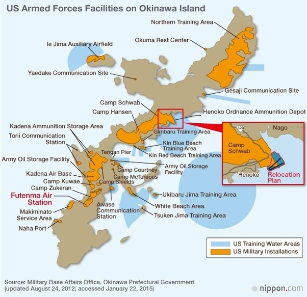 What do the japanese think of the american military base in their more than 500 protests a year occur in okinawa demanding the bases to be removed but no action is taken by the japanese government as they are heavily gumiabroncs Images