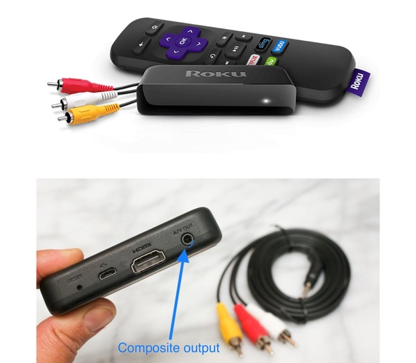 How to hook up a roku to a tv without hdmi