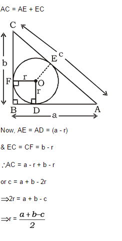 what is the radius of the incircle of the 345 right