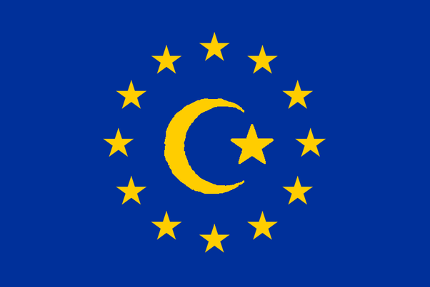 How would the Islamic version of European flags look like ...