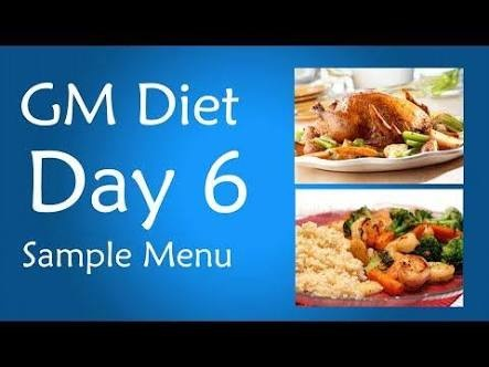 gm diet day 6 dinner