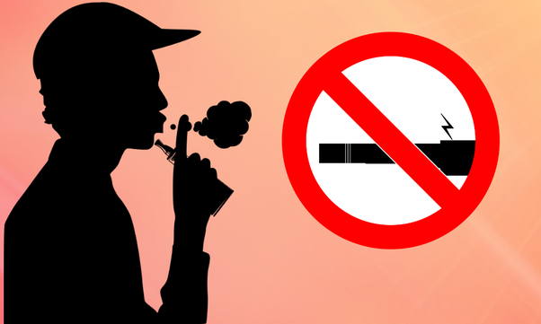 Can an under 18 child vape with nicotine free e-liquid in