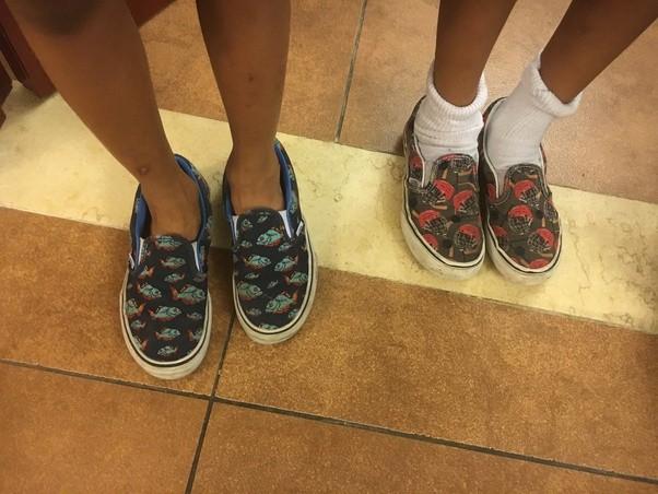 vans slip ons with no socks