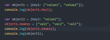 How to store multiple values along with a single key in