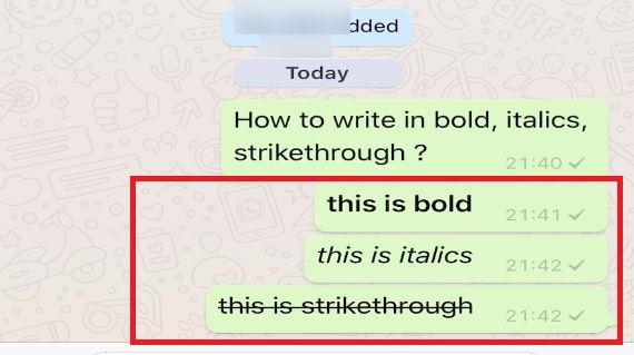 How to use bold, italics and underline on your standard
