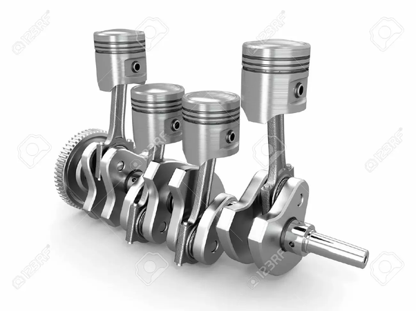 Image Source Pistons And Crankshaft Four Cylinder Engine 3d