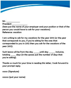 How to write a letter of leave for a vacation quora sample vacation letter spiritdancerdesigns Image collections