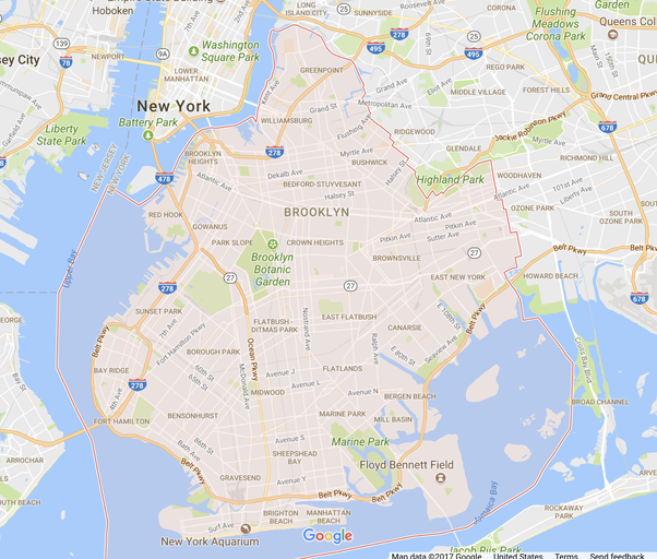 Where is the BrooklynQueens boundary Quora