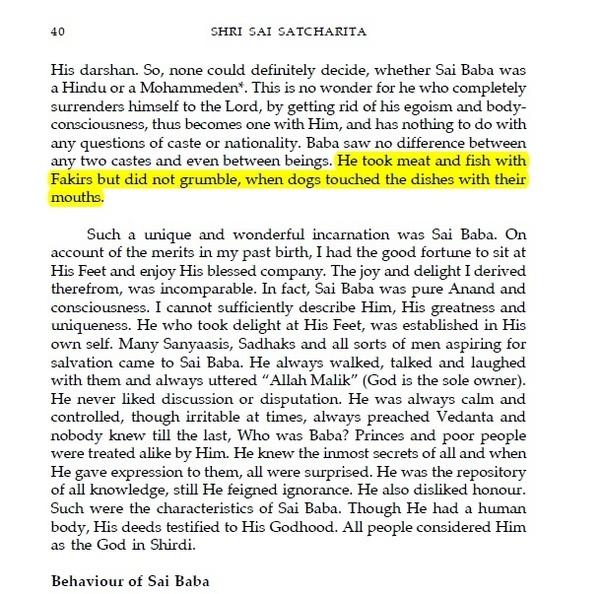 Was Shirdi Sai Baba a vegetarian or a non-vegetarian? - Quora