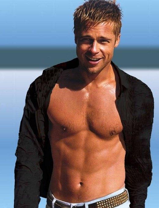 Image result for brad pitt shirtless