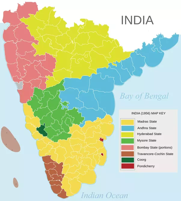Why do many tamil people also know telugu quora the following map of madras state as part of india would give a faint idea why there are many other language speaking people in the state gumiabroncs Choice Image