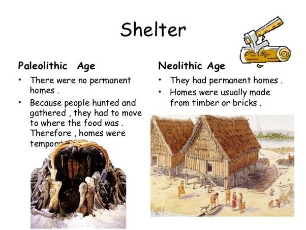 paleolithic age to neolithic age