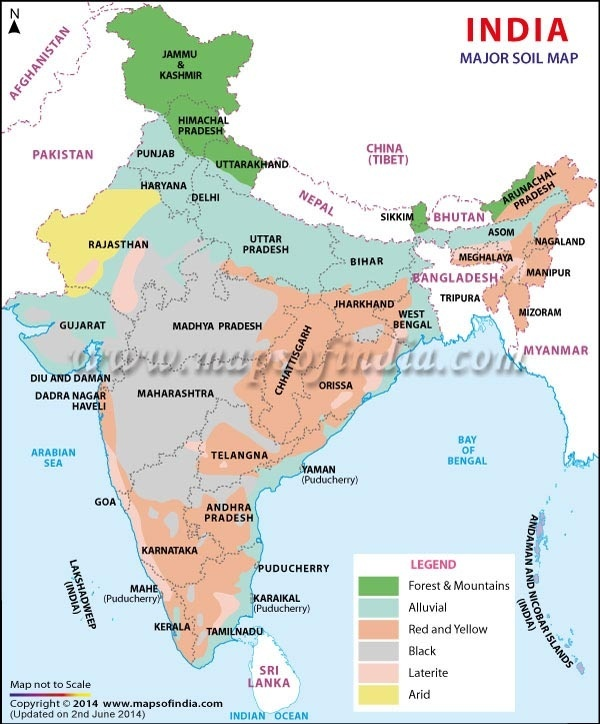 Which state in india is black soil found in quora for Soil of india
