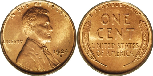 What does the markings on a wheat penny mean underneath the date