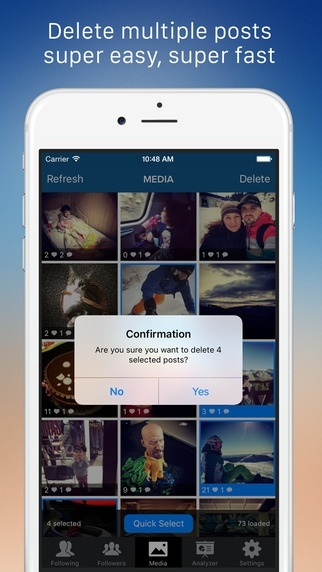 How to delete all your pictures from instagram quora screenshot of the app ccuart Images