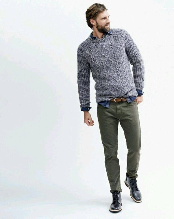 What colour of pants go with grey shirts quora for Gray dress shirt black pants