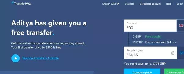 Quel est le moyen le moins cher d'envoyer de l'argent du Royaume-Uni vers l'Inde?