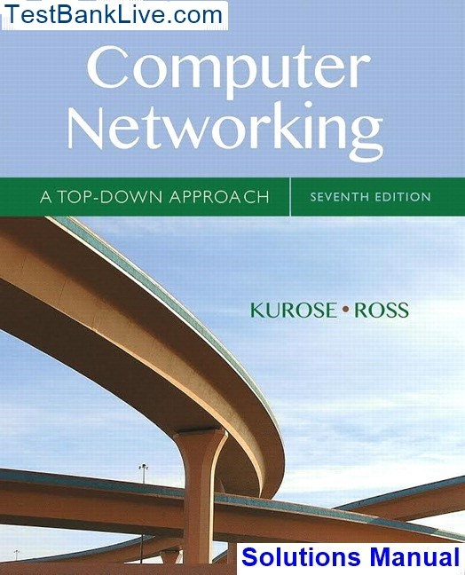 Computer networking top down approach solutions manual youtube.