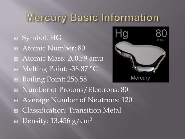 Why Is A Mercury Is Poor Conductor Of Heat Quora