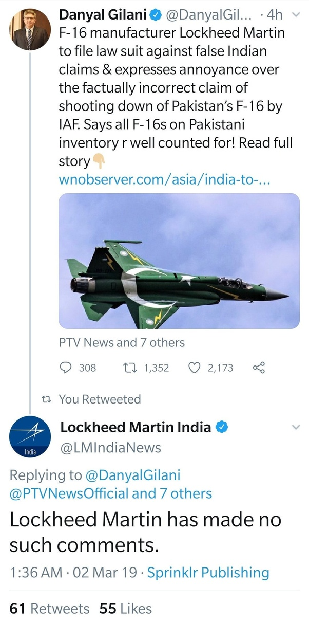 Did Indian Air Force really shoot down Pakistan air force F