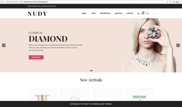What are the best free Shopify themes for jewelry sales? - Quora