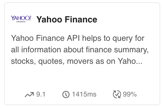 Where can I find a good API with a stock market data (both the
