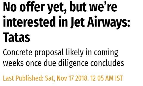 jet airways share