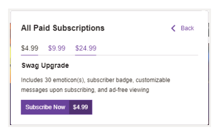 How much does a streamer make per sub? - Quora