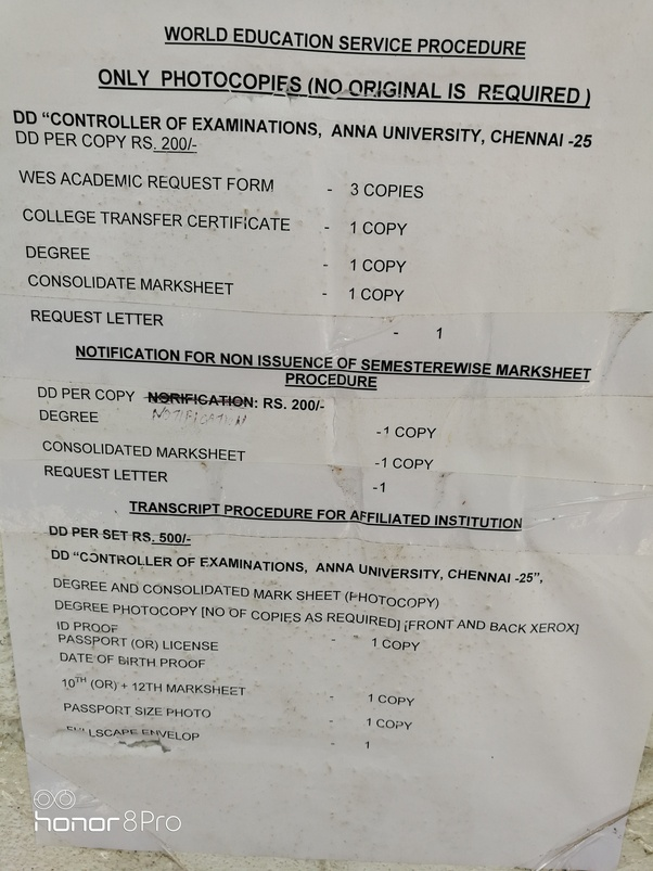 How to get Anna University transcripts - Quora