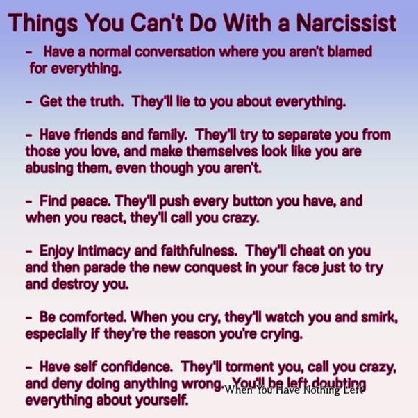 Does narcissistic abuse cause you to not be who you were? - Quora
