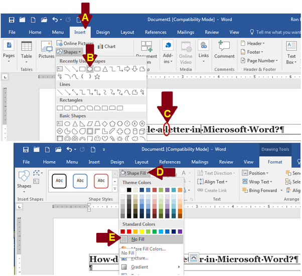 How To Draw A Circle Around Something In Microsoft Word Quora
