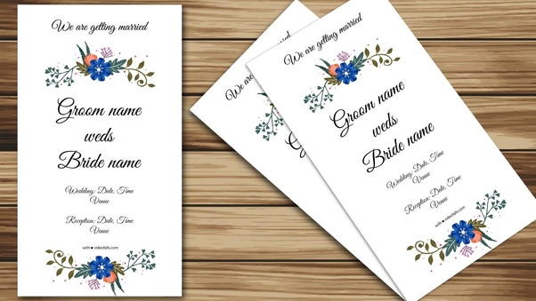 How To Make A Whatsapp Wedding Invitation For Free Quora