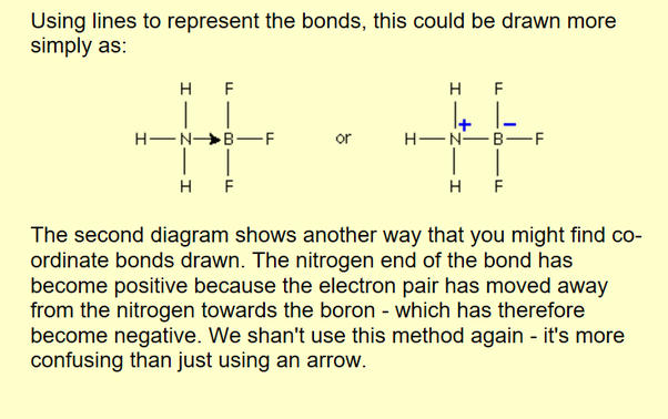 How Does A Co Ordinate Bond Differ From A Normal Covalent Bond Quora