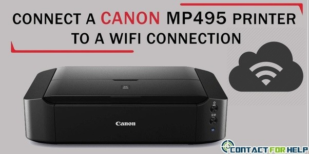 How To Connect A Canon Mp495 Printer To A Wi