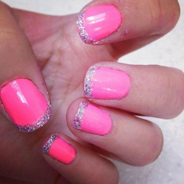 Manicures: What color tip would look best with a hot pink neon base ...