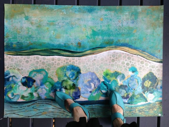 how to make fabric paint from acrylic paint
