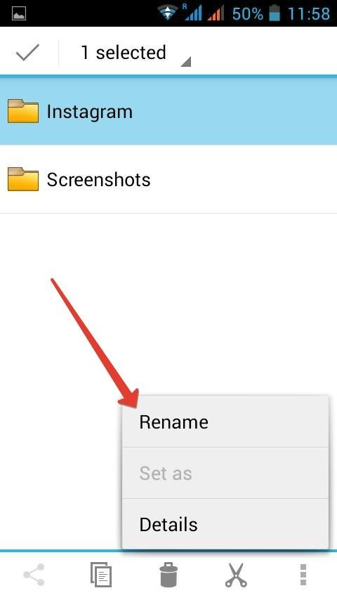 how to make folders within a folder android gallery