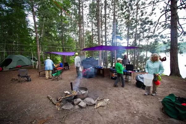This is a bit extreme but you can see how having your tents and kitchen under a tarp means you never after worry about the rain at the end of the day ... & What tent would be best for camping an entire summer? - Quora