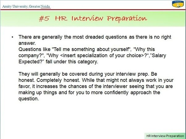 Beautiful #5 HR Interview Preparation