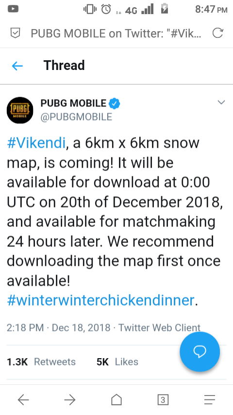 How to download pubg mobile vikendi snow map update on my