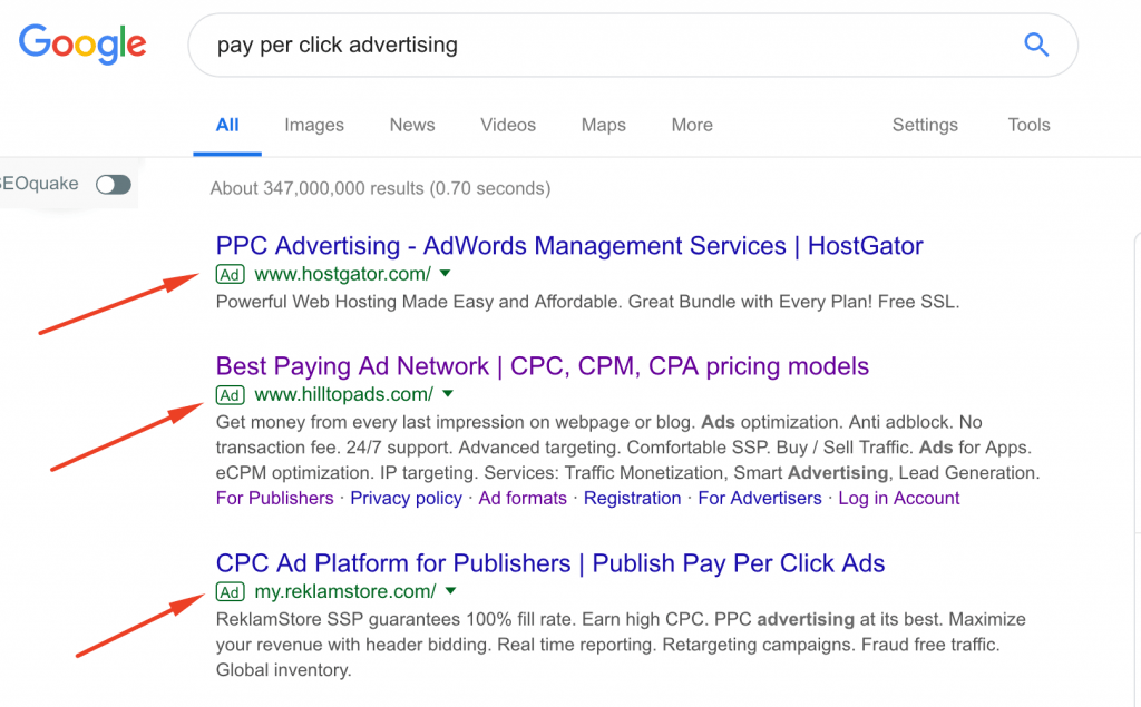What is the difference between PPC (pay per click) & CPC