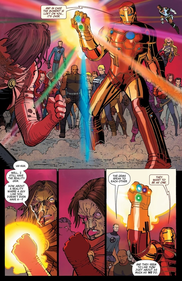 Does Iron Man use the Infinity Gauntlet in the Marvel Comics? - Quora