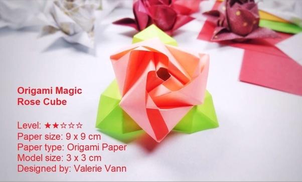 Paper Origami Rose | Vector Big Paper Flower Origami Rose Stock ... | 363x602