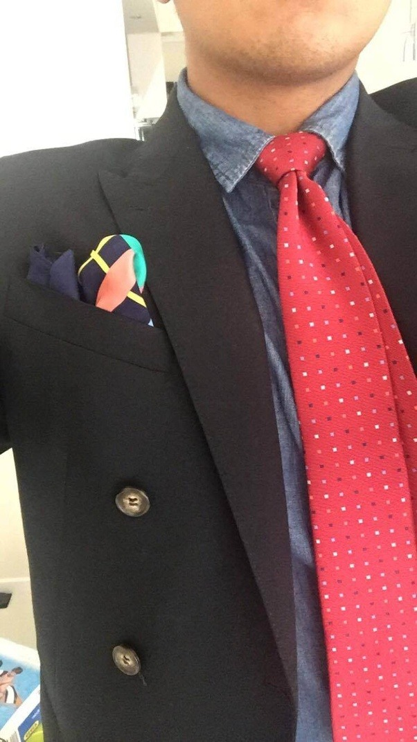 can you wear a blue shirt black suit and red tie quora
