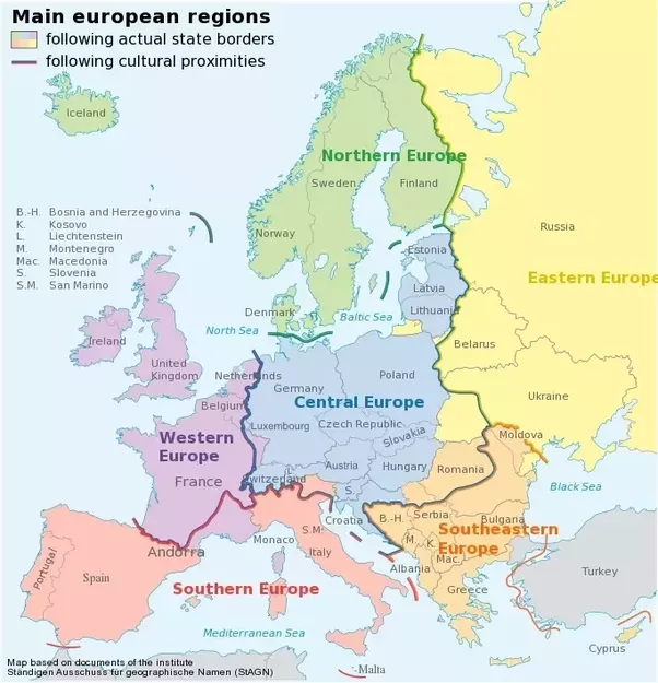 Is Germany In Eastern Or Western Europe Quora - Western europe