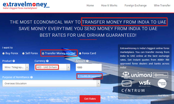 How to transfer money to Dubai from India - Quora