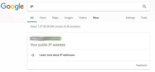 How to find my personal IP address using browsers like